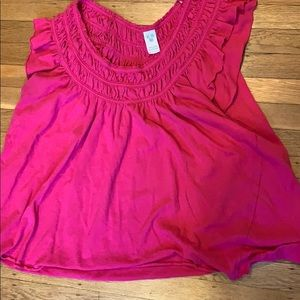 Free People Pink tank or off the shoulder